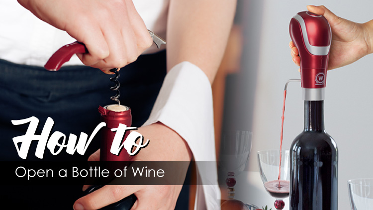 How to open a bottle of wine banner
