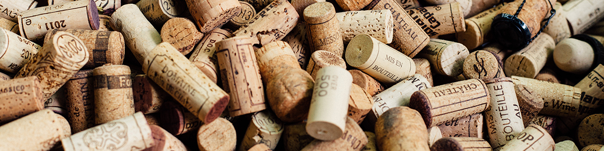Corks from aerated wine